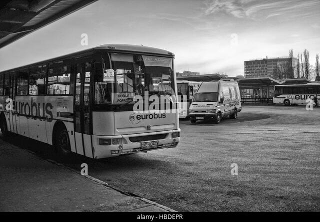 Busbahnhof in Kosice (Slowakei) Stockbild