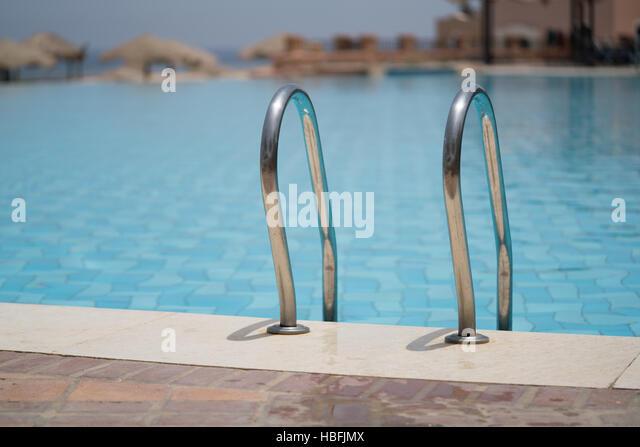 Pool-Leiter Stockbild