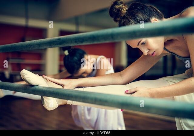 Ballett Tänzerin Ausbildung Schulkonzept Stockbild