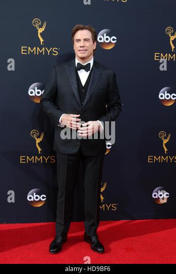 2016 Primetime Emmy Awards - Anreise am Microsoft-Theater am 18. September 2016 in Los Angeles, CA mit: John Travolta Stockbild