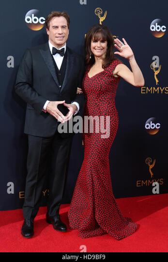 2016 Primetime Emmy Awards - Anreise am Microsoft-Theater am 18. September 2016 in Los Angeles, CA mit: John Travolta, Stockbild