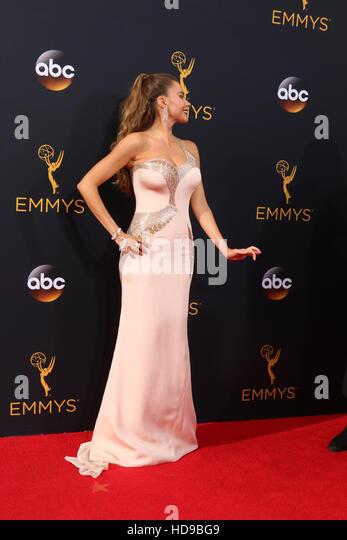 2016 Primetime Emmy Awards - Anreise am Microsoft-Theater am 18. September 2016 in Los Angeles, CA mit: Sofia Vergara Stockbild