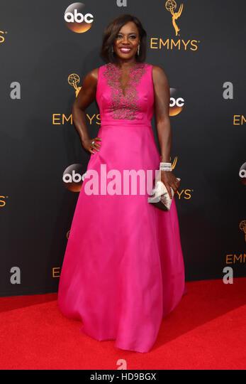 2016 Primetime Emmy Awards - Anreise am Microsoft-Theater am 18. September 2016 in Los Angeles, CA mit: Viola Davis Stockbild