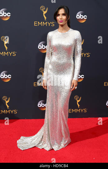 2016 Primetime Emmy Awards - Anreise am Microsoft-Theater am 18. September 2016 in Los Angeles, CA mit: Padma Lakshmi Stockbild