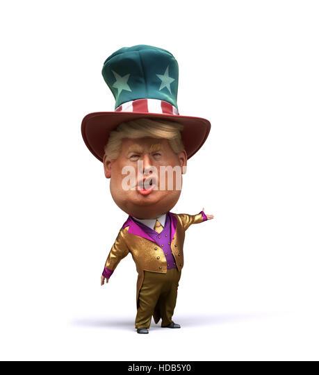 3D Karikatur von Donald Trump Stockbild