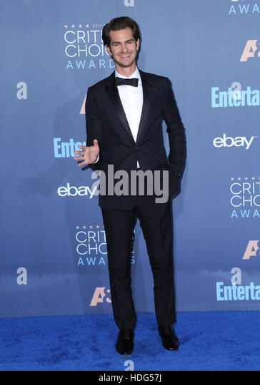 Santa Monica, Kalifornien, USA. 11. Dezember 2016. Andrew Garfield. 22. Annual Critics' Choice Awards auf Barker Stockbild
