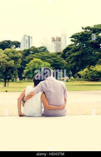 Älteres Paar Freizeit außerhalb Konzept Stockbild