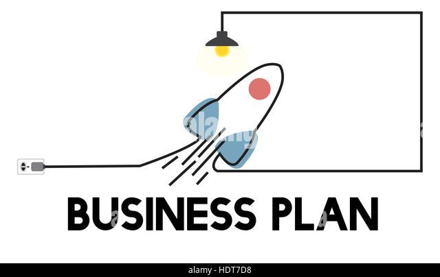 Vision Start Plan neue Unternehmer Geschäftskonzept Stockbild