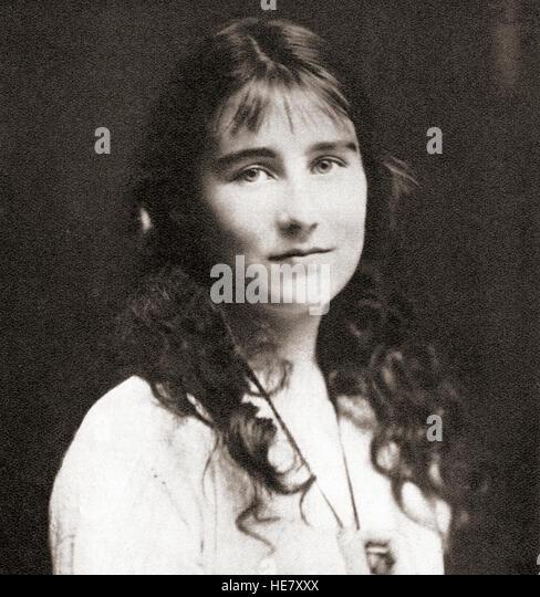 Elizabeth Angela Marguerite Bowes-Lyon, 1900 ?2002. Zu sehen hier als ein junges Mädchen.  Zukunft Königin Stockbild
