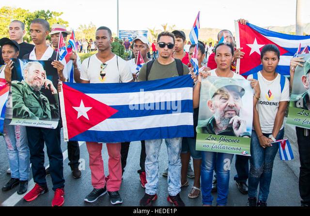 Fidel Castro Beerdigungen Stockbild