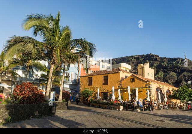 Puerto de Tazacorte, La Palma, Kanarische Inseln, Spanien Stockbild
