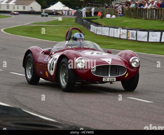 Lukas Huni, Maserati A6GCS, Freddie März Memorial Trophy, Sports Racing Cars, Goodwood Revival 2016, 2016, Stockbild