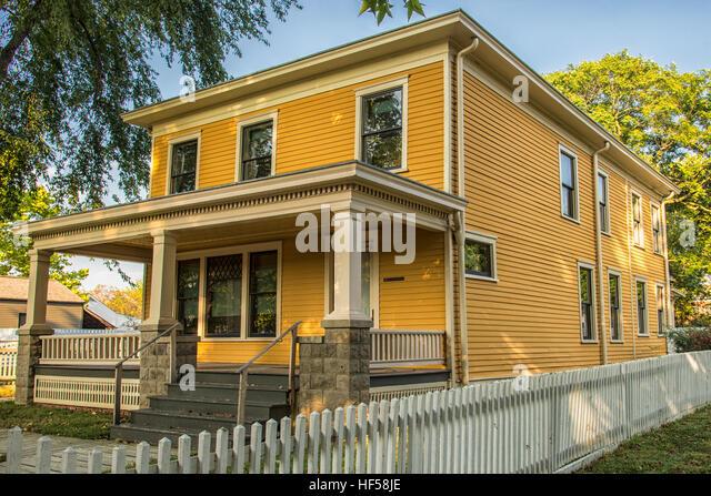 Das Lyon Haus in Lincoln Nachbarschaft. Stockbild