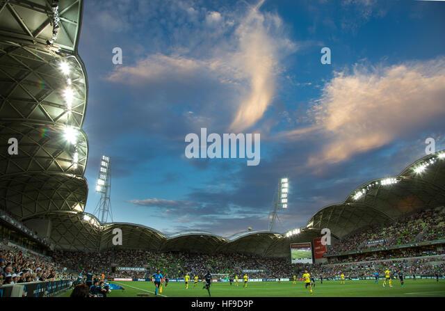 MELBOURNE, Australien ? 28. Dezember: Hyundai A-League, Runde 12. Melbourne Victory Vs Central Coast Mariners.  Stockbild