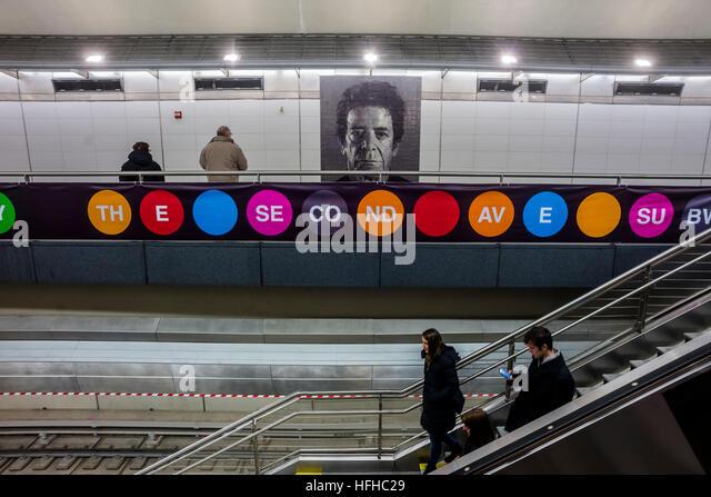 New York, USA. 1. Januar 2017. Nach fast einem Jahrhundert der Second Avenue U-Bahn endlich für die Öffentlichkeit Stockbild