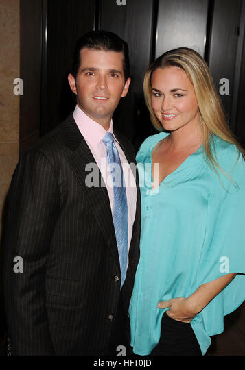 DONALD TRUMP Jr. mit seiner Frau Vanessa in 2010. Foto Jeffrey Mayer Stockbild