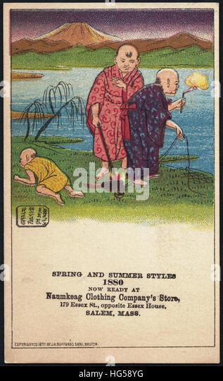 Kleidung Handel Karten - Frühling und Sommer Stile 1880, jetzt bei bimsen Clothing Company Store, 179 Essex Stockbild