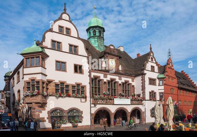 Rathaus, Rathausplatz, Freiburg Im Breisgau, Schwarzwald, Baden-Württemberg, Deutschland Stockbild