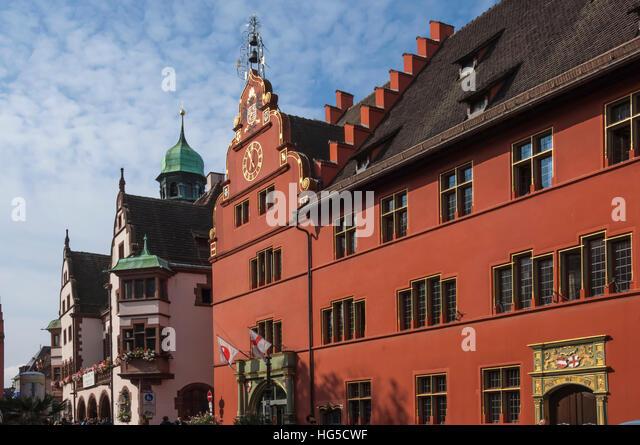 Haus Zum Walfisch [Wal Haus], Freiburg Im Breisgau, Schwarzwald, Baden-Württemberg, Deutschland Stockbild