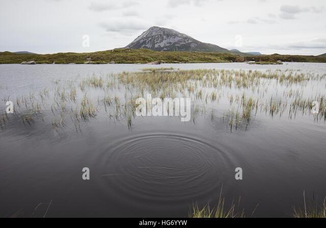 Blick von Mount Errigal Hülse Snaght Loch. Glenveagh Nationalpark, County Donegal, Irland. Stockbild