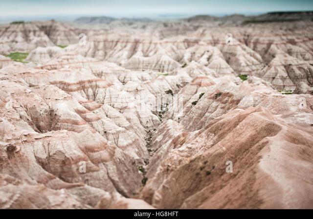 Wählen Sie Schwerpunkt Ansicht der Schluchten der Black Hills und die Badlands in South Dakota Stockbild