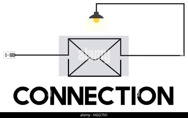 E-Mail-Nachricht Posteingang Kommunikationskonzept Stockbild