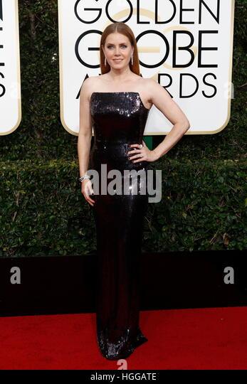 Beverly Hills, uns. 8. Januar 2017. Amy Adams kommt bei der 74. Annual Golden Globe Awards, Golden Globes in Beverly Stockbild