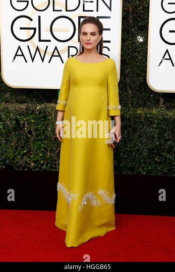 Beverly Hills, uns. 8. Januar 2017. Natalie Portman kommt bei der 74. Annual Golden Globe Awards, Golden Globes Stockbild