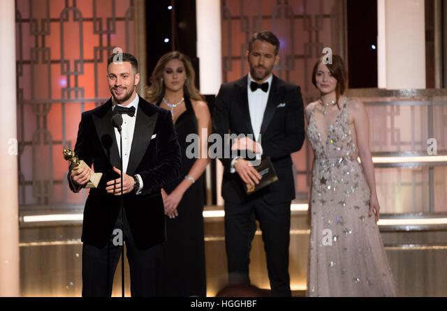 Beverly Hills, CA, USA. 8. Januar 2017. Aaron Taylor-Johnson. 74. annual Golden Globes Awards statt im Beverly Hilton Stockbild