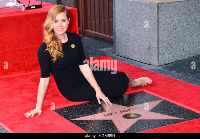Los Angeles, USA. 11. Januar 2017. A_ Amy Adams Star 005 Amy Adams mit einem Stern auf dem Hollywood Walk of Fame Stockbild