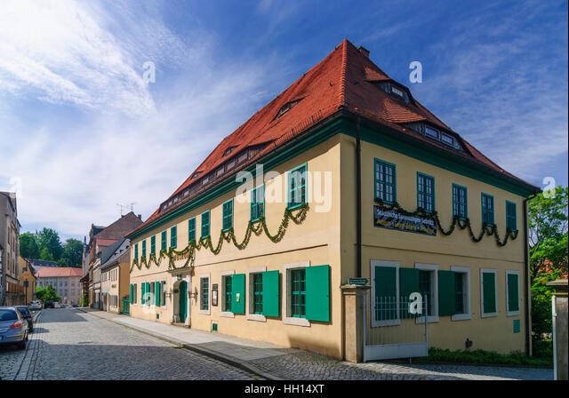 Sebnitz: Heimatmuseum und Seide Blume Herstellung, Sachsen, Sachsen, Deutschland Stockbild