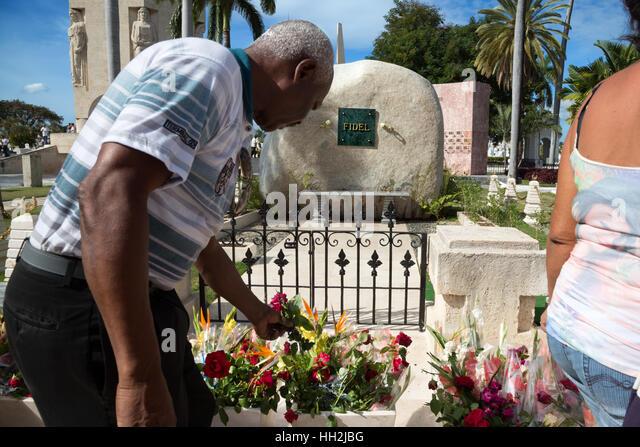 Kuba: Fidel Castros Grab in Santiago De Cuba Stockbild