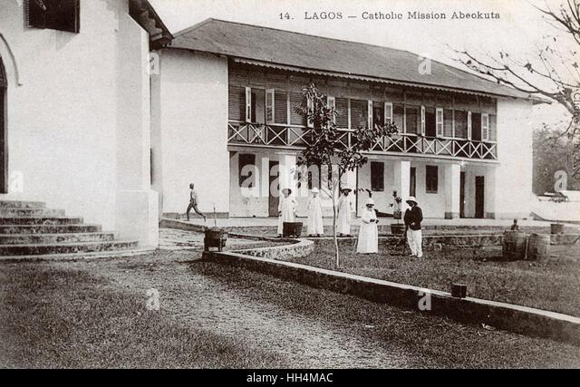 Katholische Mission, Abeokuta, Lagos, Nigeria, Westafrika. Stockbild