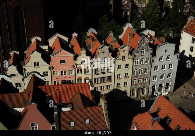 Polen. Danzig. Historischen Zentrum. Stockbild