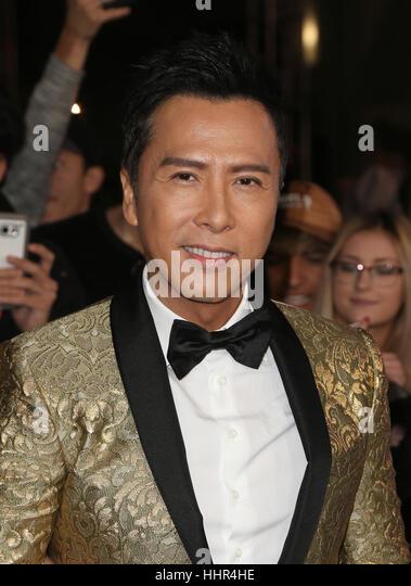 """Hollywood CA - Januar 19: Donnie Yen, bei Premiere von Paramount Pictures """"xXx: Return Of Xander Cage"""", Stockbild"""