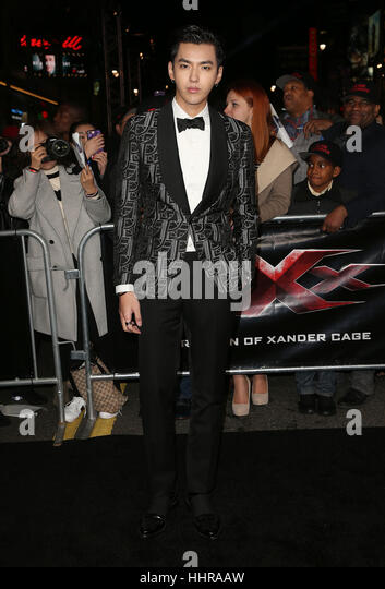 "Hollywood, USA. 19. Januar 2017. Kris Wu gesehen, Teilnahme an der ""xXx: Return Of Xander Cage' Los Angeles Stockbild"