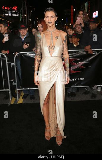 "Hollywood, USA. 19. Januar 2017. Ruby Rose gesehen, Teilnahme an der ""xXx: Return Of Xander Cage' Los Angeles Stockbild"