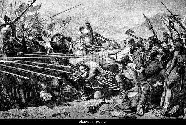 Schlacht von Sempach, Konflikt zwischen den Habsburgern und den Eidgenossen im zweiten Weltkrieg die Schweizer Habsburg, Stockbild