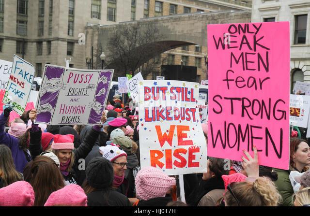 Washington, DC, Vereinigte Staaten von Amerika. 21. Januar 2017. Frauen Marsch auf Washington. Bildnachweis: Susan Stockbild