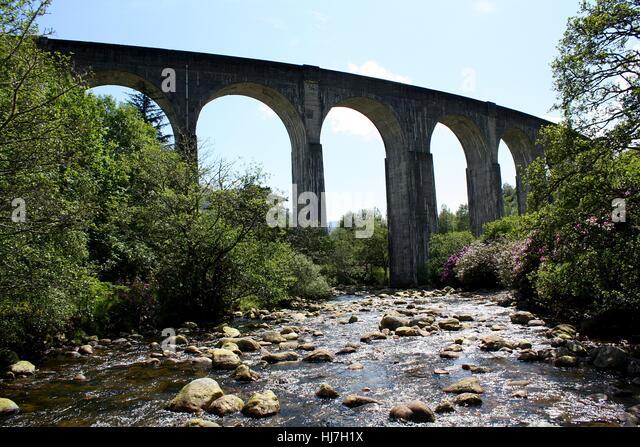 Hochland, Hochland, Glenfinnan Viadukt, Schottland, Glenfinnan Viadukt, Stockbild