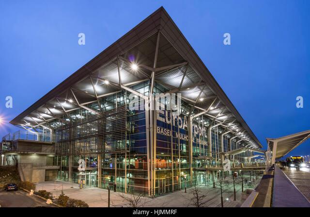 EuroAirport-Terminal, Flughafen Basel Mulhouse, Muellhausen, Freiburg Stockbild