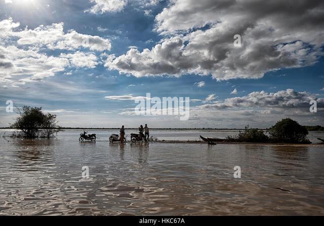 Tonle Sap See, Kambodscha. Stockbild