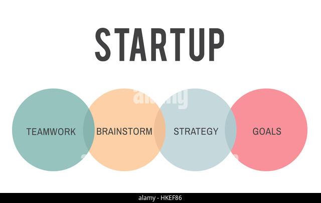 Starten Sie Business Unternehmer-Konzept Stockbild
