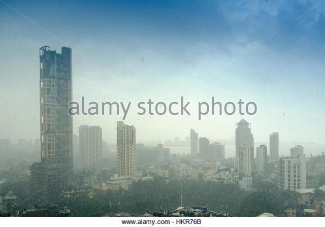 Mumbai, schweren Monsun-Regen Stockbild