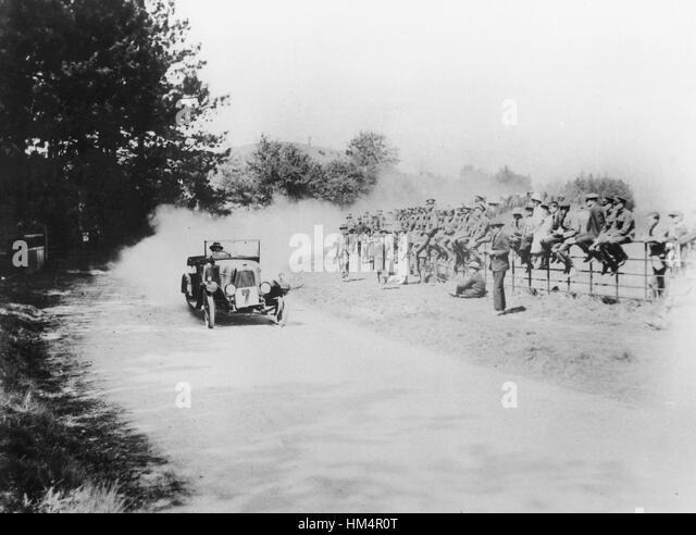 1921 Aston Martin SV am Bergrennen von Aston Clinton Stockbild