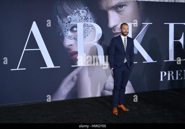 """Los Angeles, Kalifornien, USA. 2. Februar 2017. Schauspieler Jamie Dornan bei der Premiere von """"Fifty Shades Stockbild"""
