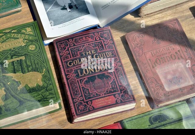 Antiquarische Bücher über London Stockbild