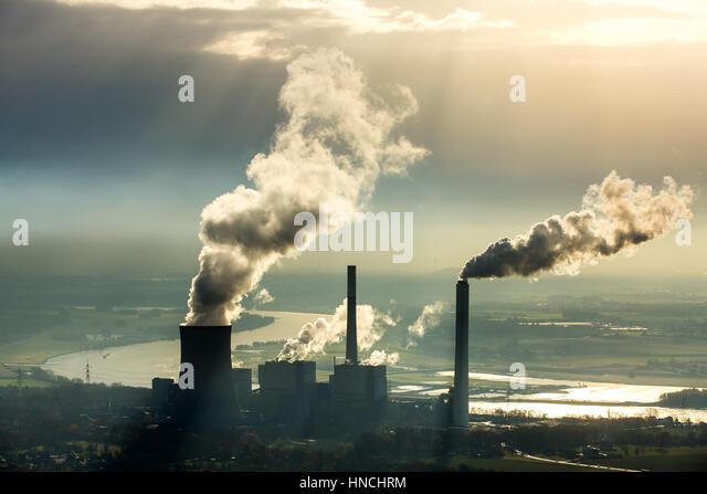 Kohle-Kraftwerk Voerde Steag Energy Services GmbH, Voerde, Ruhr district, North Rhine-Westphalia, Deutschland Stockbild