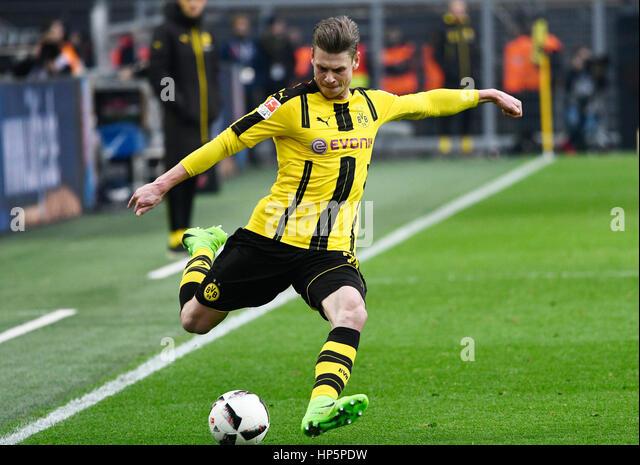 Signal-Iduna-Park, Dortmund, Deutschland. 18. Februar 2017. Deutsche Fußball Bundesliga Saison 2016/17, Spieltag Stockbild