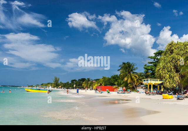 Jamaika-Negril Beach, West Indies, Karibik Insel Stockbild
